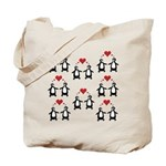 Penguins In Love Tote Bag