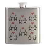 Penguins In Love Flask