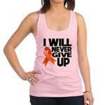Never Give Up Leukemia Racerback Tank Top