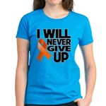 Never Give Up Leukemia Women's Dark T-Shirt