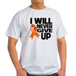 Never Give Up Leukemia Light T-Shirt