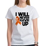 Never Give Up Leukemia Women's T-Shirt