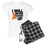 Never Give Up Leukemia Women's Light Pajamas