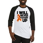 Never Give Up Leukemia Baseball Jersey