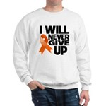 Never Give Up Leukemia Sweatshirt