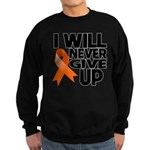Never Give Up Leukemia Sweatshirt (dark)
