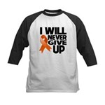 Never Give Up Leukemia Kids Baseball Jersey