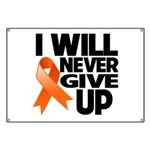 Never Give Up Leukemia Banner