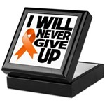 Never Give Up Leukemia Keepsake Box