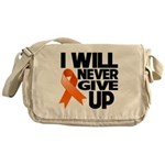 Never Give Up Leukemia Messenger Bag