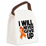Never Give Up Leukemia Canvas Lunch Bag