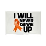 Never Give Up Leukemia Rectangle Magnet (10 pack)