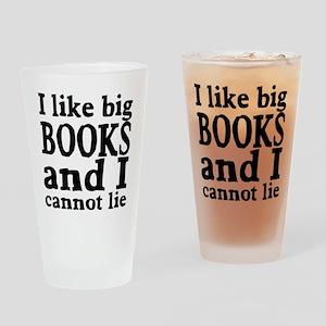 I like big books and I cannot lie Drinking Glass