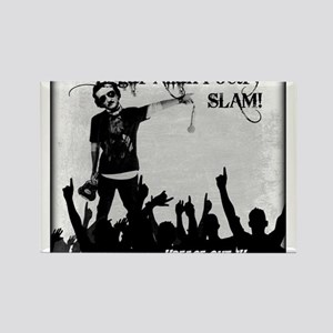 Edgar Allan Poetry Slam Rectangle Magnet