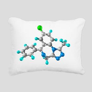 Alprazolam drug molecule - Rectangular Canvas Pill