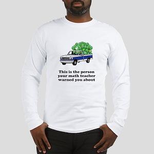 Person math teacher warned Long Sleeve T-Shirt