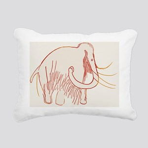 Cave painting of a mammoth, artwork - Rectangular
