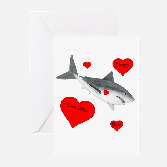 Personalized Shark Valentine Greeting Cards (Pk of