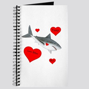 Personalized Shark - Heart Journal