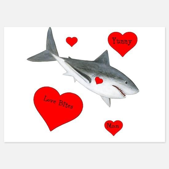 Personalized Shark Valentine Invitations