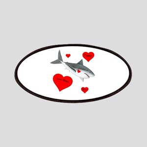 Personalized Shark - Heart Patch