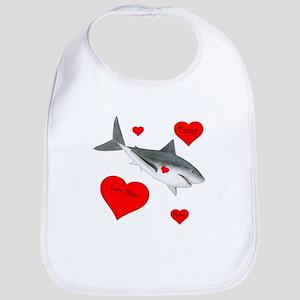Personalized Shark Valentine Bib
