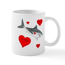 Personalized Shark - Heart 11 oz Ceramic Mug