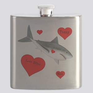 Personalized Shark - Heart Flask