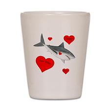 Personalized Shark - Heart Shot Glass