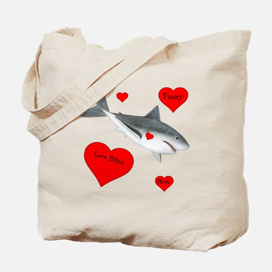 Personalized Shark Valentine Tote Bag