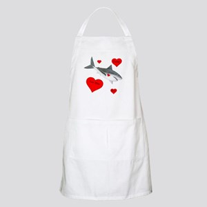 Personalized Shark - Heart Light Apron