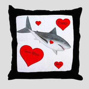 Personalized Shark - Heart Throw Pillow
