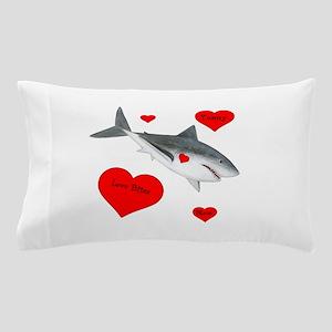 Personalized Shark - Heart Pillow Case