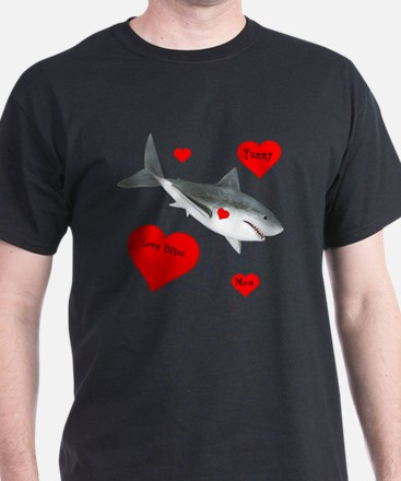 Personalized Shark Valentine T-Shirt