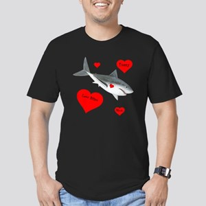 Personalized Shark - H Men's Fitted T-Shirt (dark)