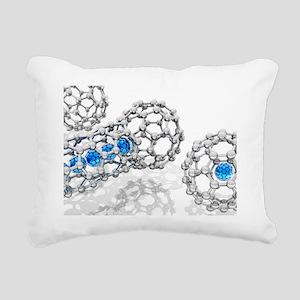 Doping buckyball molecules, artwork - Rectangular