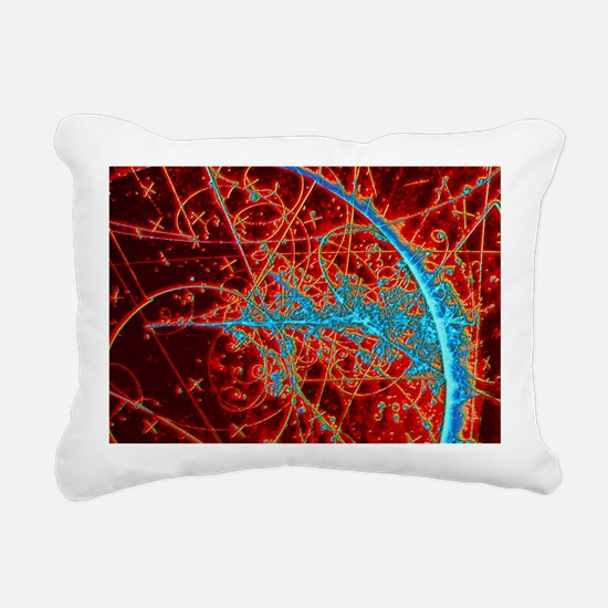 Particle tracks - Rectangular Canvas Pillow