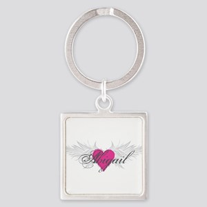 My Sweet Angel Abigail Square Keychain