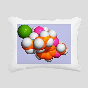 Painkilling drug molecule - Rectangular Canvas Pil