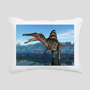 Spinosaurus dinosaur, artwork - Rectangular Canvas