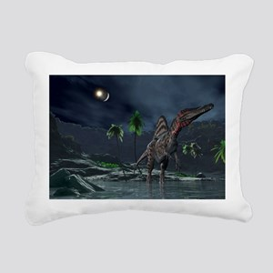 Spinosaurus witnessing a lunar impact - Rectangula