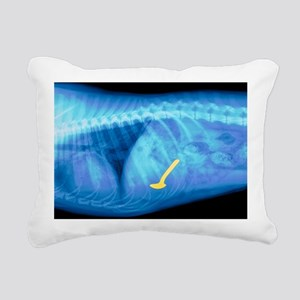 Spoon swallowed by a dog, X-ray - Rectangular Canv
