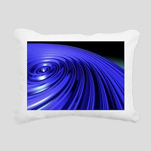 Swirl, abstract artwork - Rectangular Canvas Pillo