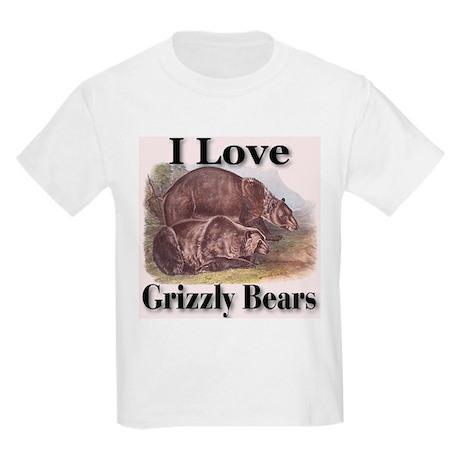 I Love Grizzly Bears Kids T-Shirt