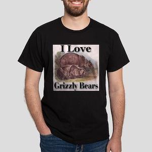 I Love Grizzly Bears Dark T-Shirt