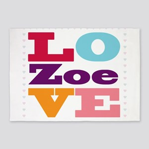 I Love Zoe 5'x7'Area Rug