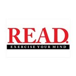 READ. Exercise. 35x21 Wall Decal