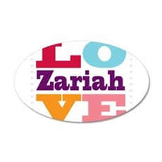 I Love Zariah Wall Decal