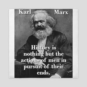 History Is Nothing - Karl Marx Queen Duvet