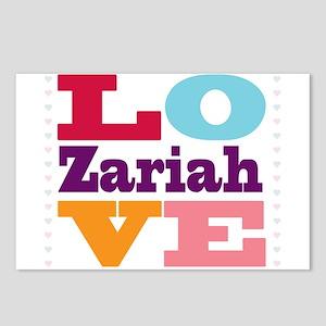 I Love Zariah Postcards (Package of 8)